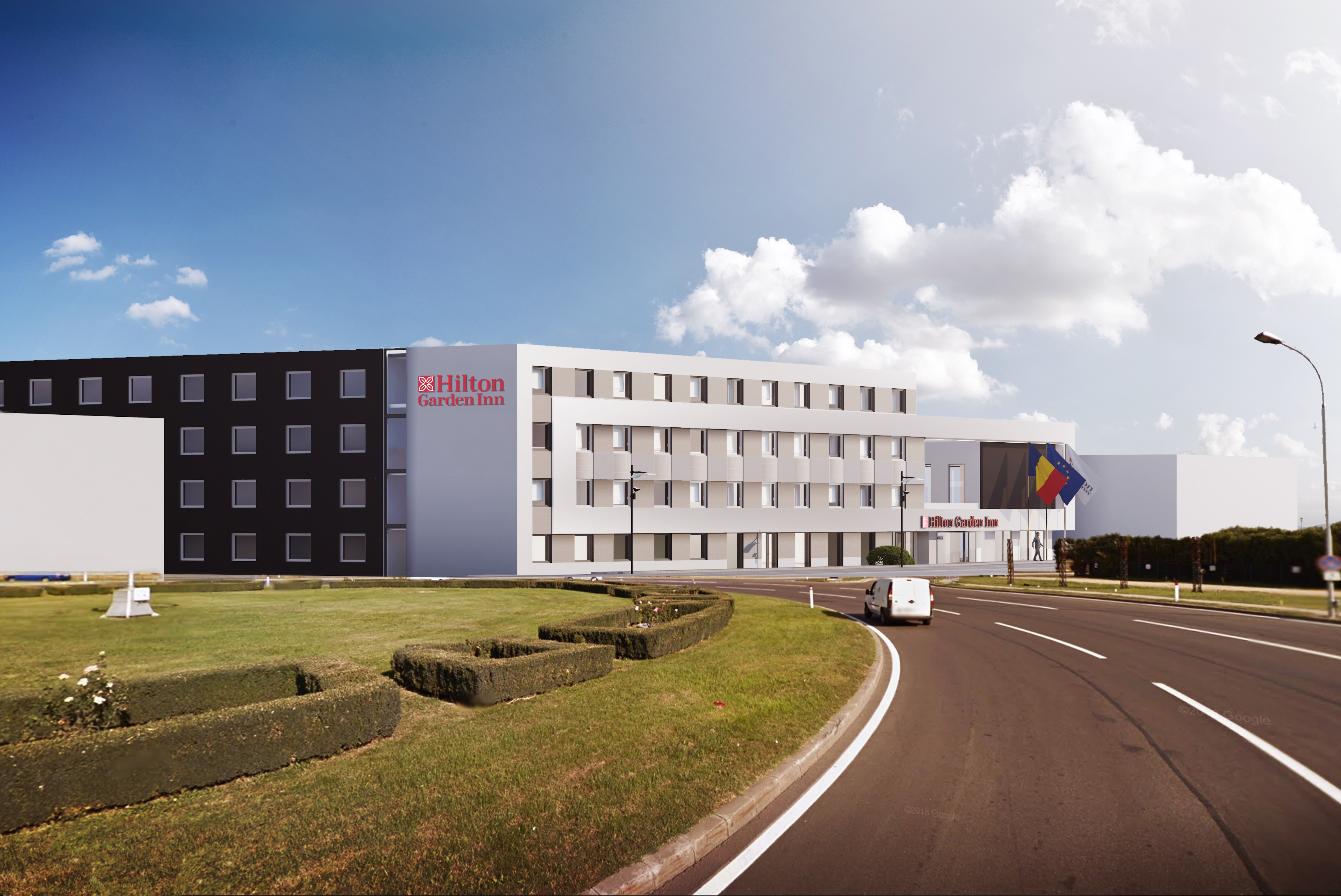 The first airport-hotel by the Hilton Garden Inn brand to be opened in Romania in Otopeni image